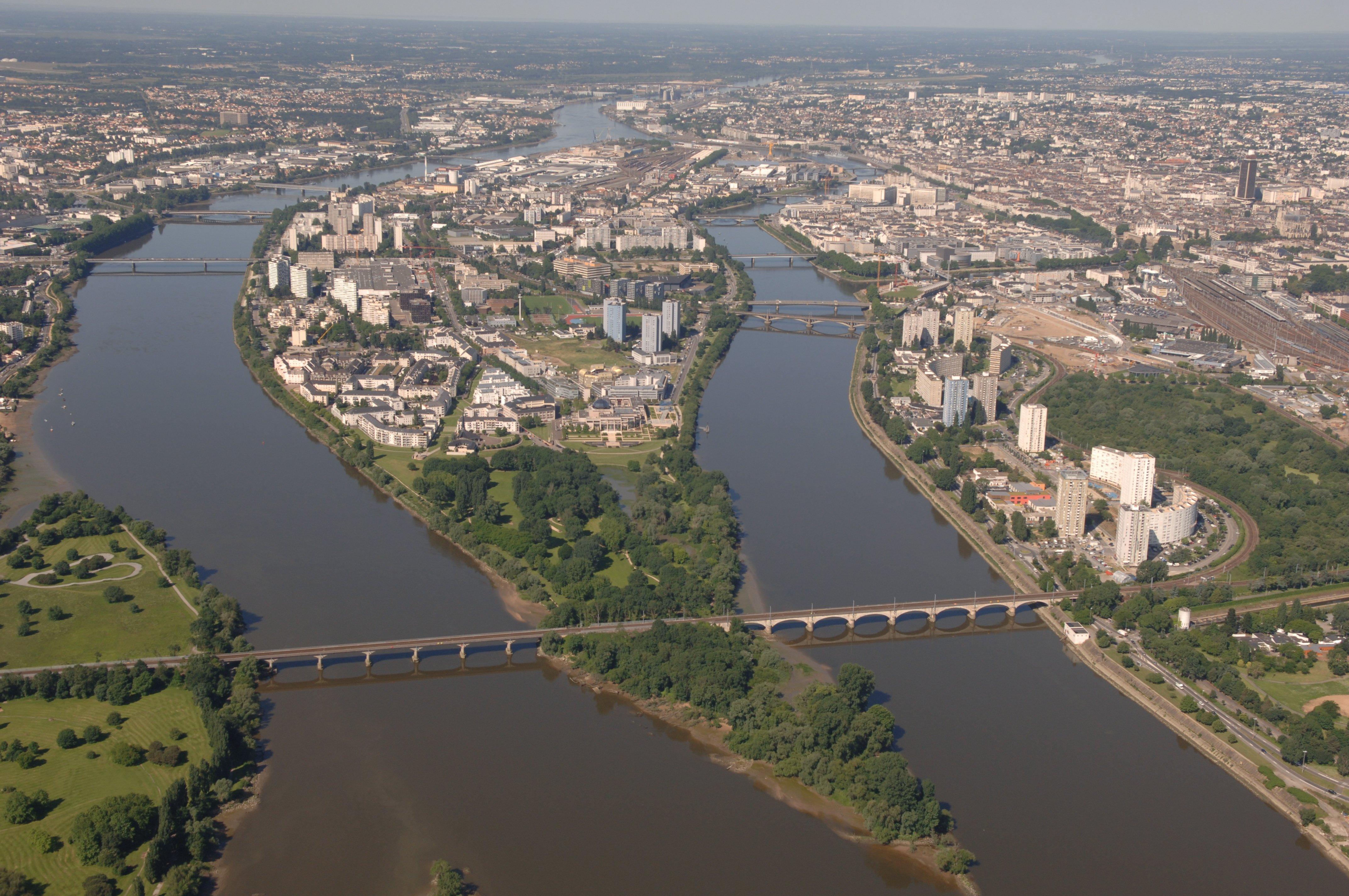 Vue aérienne de la pointe de Nantes