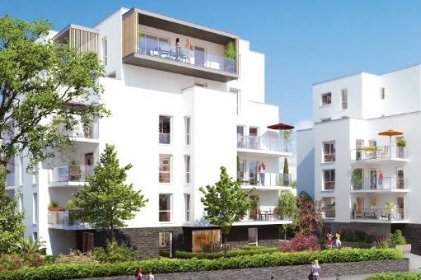 Vue du futur ensemble d'habitations Nina Verde