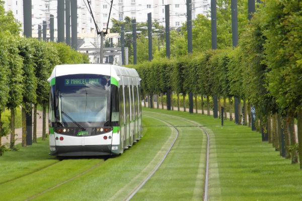 Le tramway à Nantes